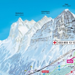 Ski runs Grindelwald Mnnlichen Wengen map of the ski runs