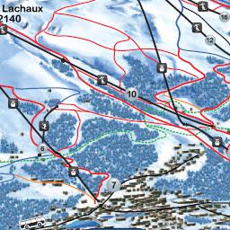 Ski runs Crans Montana map of the ski runs